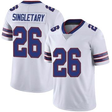 Youth Nike Buffalo Bills Devin Singletary White Color Rush Vapor Untouchable Jersey - Limited