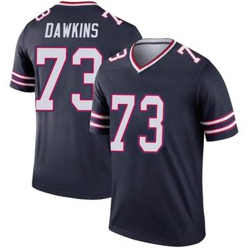 Youth Nike Buffalo Bills Dion Dawkins Navy Inverted Jersey - Legend