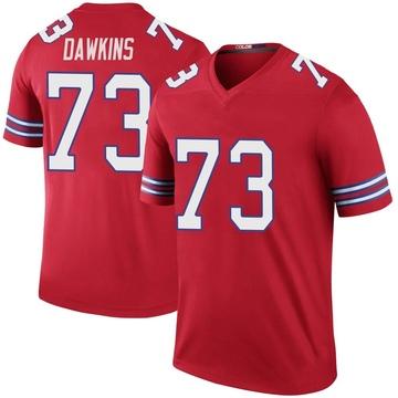 Youth Nike Buffalo Bills Dion Dawkins Red Color Rush Jersey - Legend