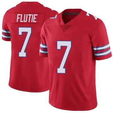 Youth Nike Buffalo Bills Doug Flutie Red Color Rush Vapor Untouchable Jersey - Limited