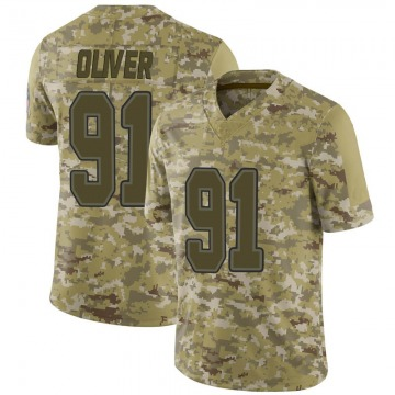 Youth Nike Buffalo Bills Ed Oliver Camo 2018 Salute to Service Jersey - Limited