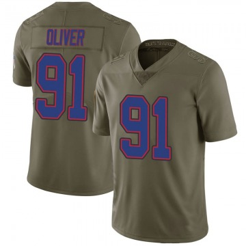 Youth Nike Buffalo Bills Ed Oliver Green 2017 Salute to Service Jersey - Limited
