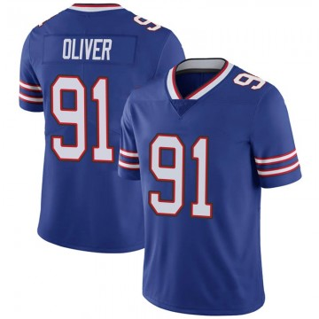 Youth Nike Buffalo Bills Ed Oliver Olive Royal 100th Vapor Jersey - Limited