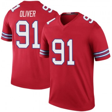 Youth Nike Buffalo Bills Ed Oliver Red Color Rush Jersey - Legend