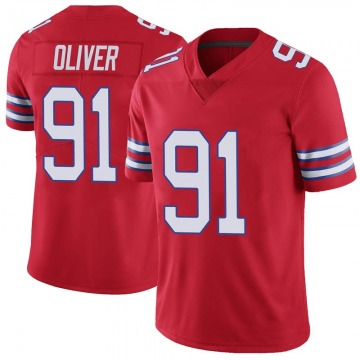 Youth Nike Buffalo Bills Ed Oliver Red Color Rush Vapor Untouchable Jersey - Limited