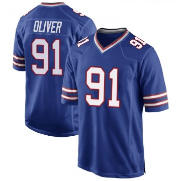 Youth Nike Buffalo Bills Ed Oliver Royal Blue Team Color Jersey - Game