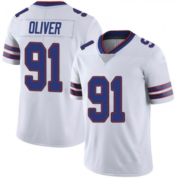 Youth Nike Buffalo Bills Ed Oliver White Color Rush Vapor Untouchable Jersey - Limited