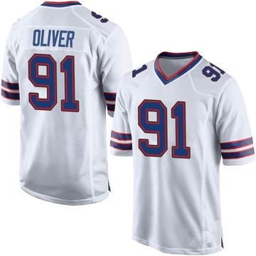Youth Nike Buffalo Bills Ed Oliver White Jersey - Game