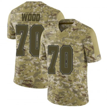 Youth Nike Buffalo Bills Eric Wood Camo 2018 Salute to Service Jersey - Limited