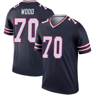 Youth Nike Buffalo Bills Eric Wood Navy Inverted Jersey - Legend