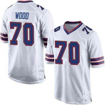 Youth Nike Buffalo Bills Eric Wood White Jersey - Game