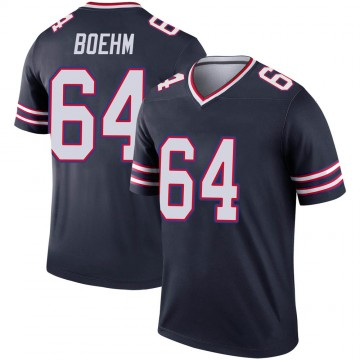 Youth Nike Buffalo Bills Evan Boehm Navy Inverted Jersey - Legend