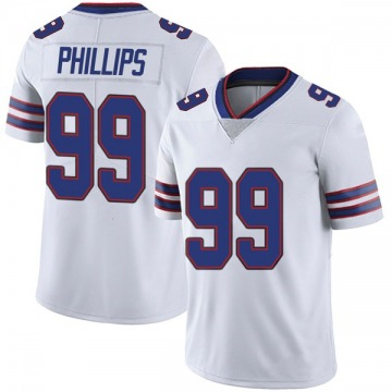 Youth Nike Buffalo Bills Harrison Phillips White Color Rush Vapor Untouchable Jersey - Limited
