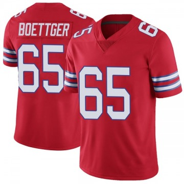 Youth Nike Buffalo Bills Ike Boettger Red Color Rush Vapor Untouchable Jersey - Limited