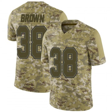 Youth Nike Buffalo Bills Isaiah Brown Brown Camo 2018 Salute to Service Jersey - Limited