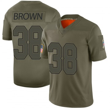Youth Nike Buffalo Bills Isaiah Brown Brown Camo 2019 Salute to Service Jersey - Limited