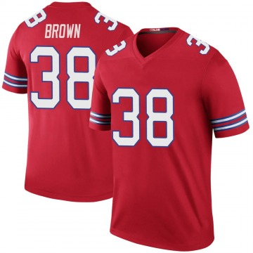 Youth Nike Buffalo Bills Isaiah Brown Red Color Rush Jersey - Legend
