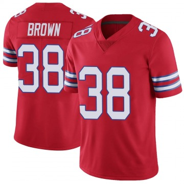 Youth Nike Buffalo Bills Isaiah Brown Red Color Rush Vapor Untouchable Jersey - Limited