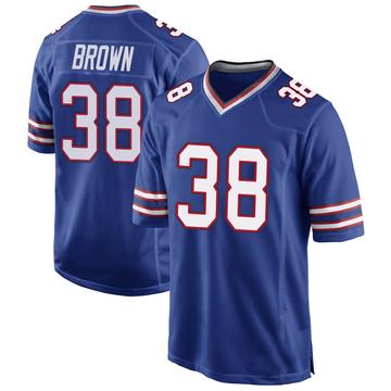 Youth Nike Buffalo Bills Isaiah Brown Royal Blue Team Color Jersey - Game