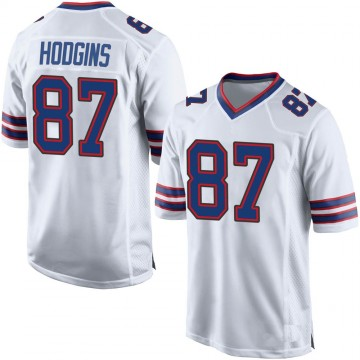Youth Nike Buffalo Bills Isaiah Hodgins White Jersey - Game