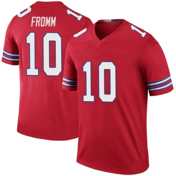 Youth Nike Buffalo Bills Jake Fromm Red Color Rush Jersey - Legend