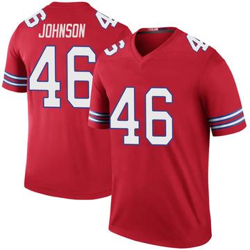 Youth Nike Buffalo Bills Jaquan Johnson Red Color Rush Jersey - Legend