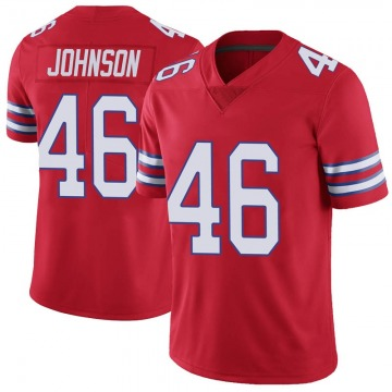 Youth Nike Buffalo Bills Jaquan Johnson Red Color Rush Vapor Untouchable Jersey - Limited