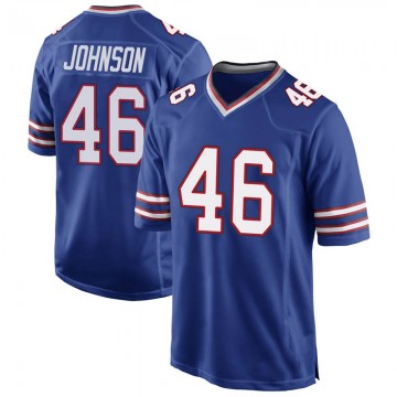 Youth Nike Buffalo Bills Jaquan Johnson Royal Blue Team Color Jersey - Game