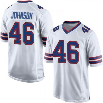 Youth Nike Buffalo Bills Jaquan Johnson White Jersey - Game
