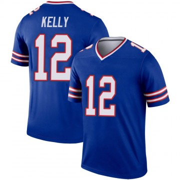 Youth Nike Buffalo Bills Jim Kelly Royal Jersey - Legend