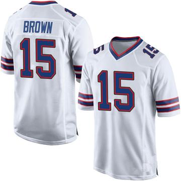 Youth Nike Buffalo Bills John Brown White Jersey - Game