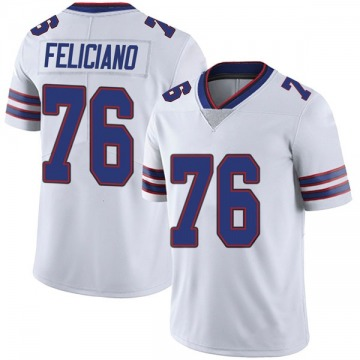 Youth Nike Buffalo Bills Jon Feliciano White Color Rush Vapor Untouchable Jersey - Limited
