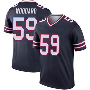 Youth Nike Buffalo Bills Jonathan Woodard Navy Inverted Jersey - Legend