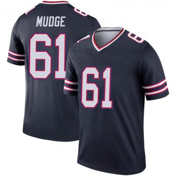Youth Nike Buffalo Bills Jordan Mudge Navy Inverted Jersey - Legend