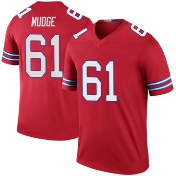 Youth Nike Buffalo Bills Jordan Mudge Red Color Rush Jersey - Legend