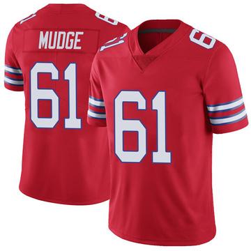Youth Nike Buffalo Bills Jordan Mudge Red Color Rush Vapor Untouchable Jersey - Limited