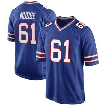 Youth Nike Buffalo Bills Jordan Mudge Royal Blue Team Color Jersey - Game