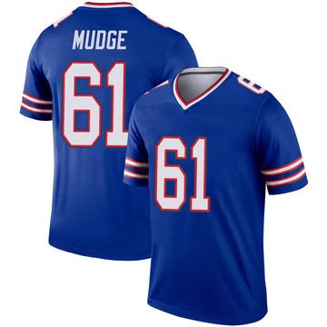 Youth Nike Buffalo Bills Jordan Mudge Royal Inverted Jersey - Legend
