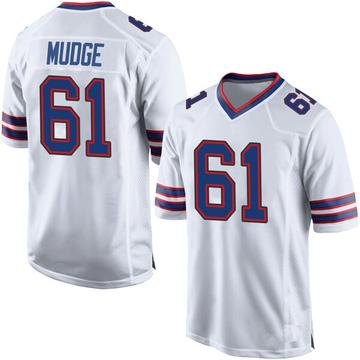 Youth Nike Buffalo Bills Jordan Mudge White Jersey - Game