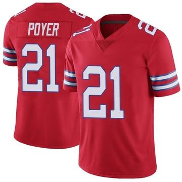 Youth Nike Buffalo Bills Jordan Poyer Red Color Rush Vapor Untouchable Jersey - Limited