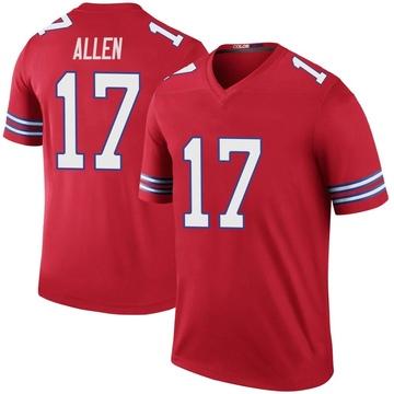 Youth Nike Buffalo Bills Josh Allen Red Color Rush Jersey - Legend