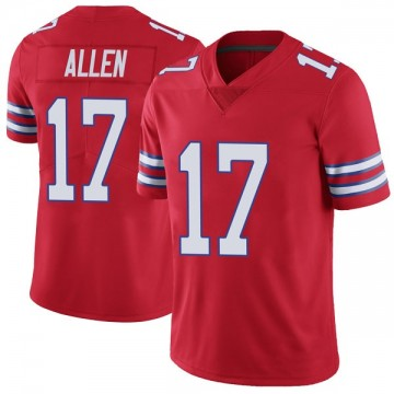 Youth Nike Buffalo Bills Josh Allen Red Color Rush Vapor Untouchable Jersey - Limited