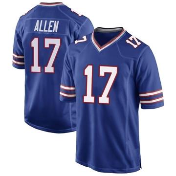 Youth Nike Buffalo Bills Josh Allen Royal Blue Team Color Jersey - Game