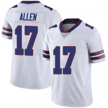 Youth Nike Buffalo Bills Josh Allen White Color Rush Vapor Untouchable Jersey - Limited