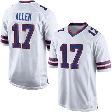 Youth Nike Buffalo Bills Josh Allen White Jersey - Game