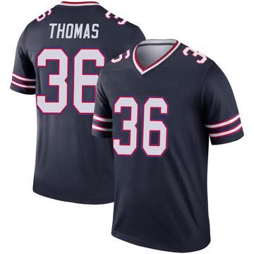 Youth Nike Buffalo Bills Josh Thomas Navy Inverted Jersey - Legend