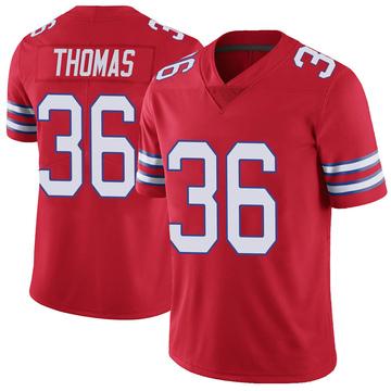 Youth Nike Buffalo Bills Josh Thomas Red Color Rush Vapor Untouchable Jersey - Limited
