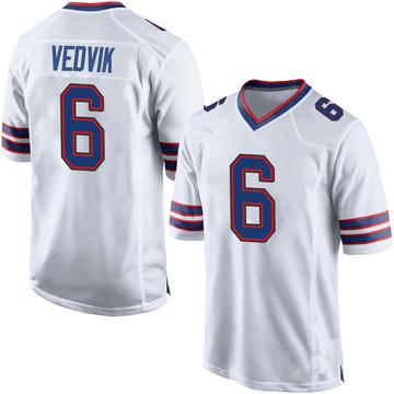 Youth Nike Buffalo Bills Kaare Vedvik White Jersey - Game