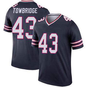 Youth Nike Buffalo Bills Keith Towbridge Navy Inverted Jersey - Legend