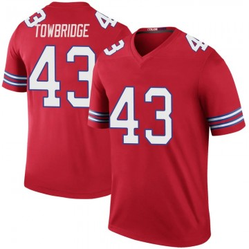 Youth Nike Buffalo Bills Keith Towbridge Red Color Rush Jersey - Legend